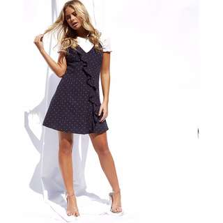 Popcherry Frill Dress in Blue Size S $38.99 (RRP $54.99)