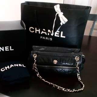 Authentic Chanel Perforated Leather Tote