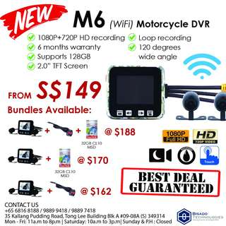 [NEW] M6 with WiFi (1080P+720P) Motor DVR