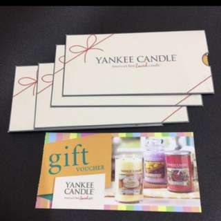 Yankee candle gift voucher