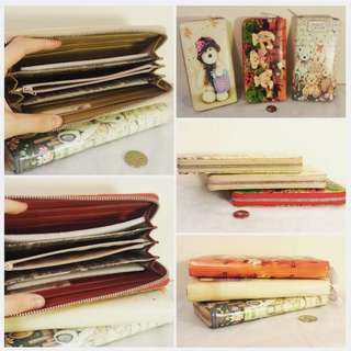 NEW Cute Teddy Leather Wallets