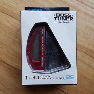 BOSS TU-10 clip on chromatic tuner