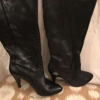 Killah by Miss Sixty black leather boots Sz 37