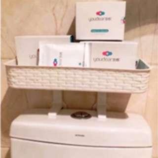 Bathroom Shelf (above toilet cover) White colour
