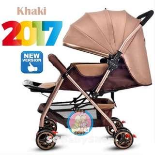 💯2017Brand New German design Light weight Aluminum baby stroller/pram/sembawang/aluminum