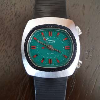 Secory Vintage Alarm Watch Swiss Made