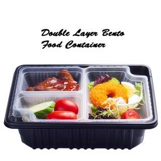 5 pcs Double Layer Bento Food Container ( Disposable )