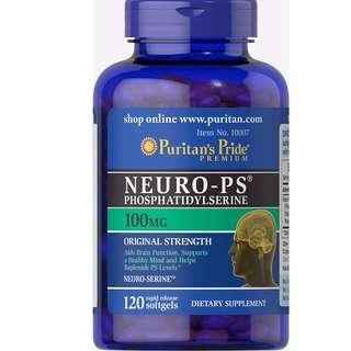 Puritan's Pride  腦磷脂 Neuro-PS (Phosphatidylserine)100mg/120顆