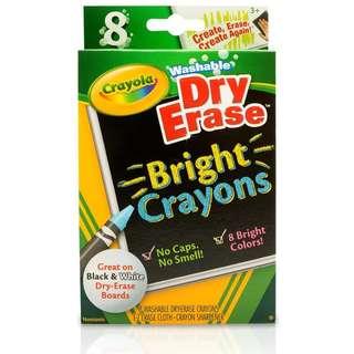 Crayola Washable Dry Erase Bright Crayons 8 (985202)