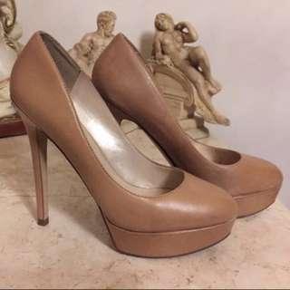 Aldo Stiletto Nude Leather High Heels | Krem Kulit