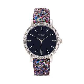 (PRICE REDUCED) Kate Spade Grand Metro Glitter Watch Interchangeable Navy & Multi Glitter