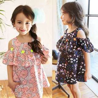 Girls's gorgeous Floral Tassel Dress