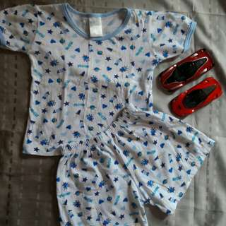 3 for 150! Preloved terno set for 3-6mos.