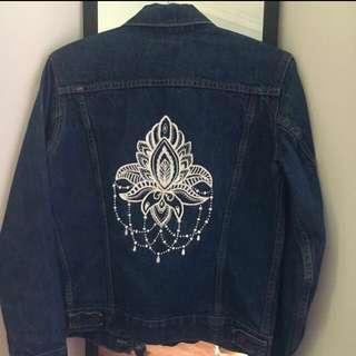 Denim Jacket From Levi's Custom Painted