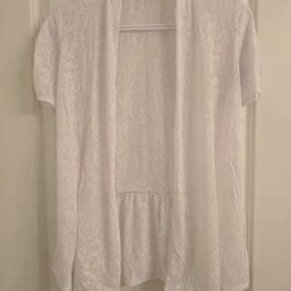 Reitman white cardigan