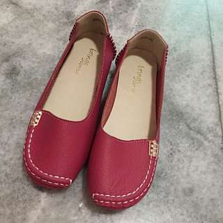 NEW!! Pink Rubber Flat Shoes