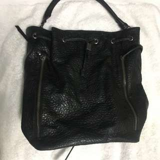 Aldo Leather backpack/bucket bag