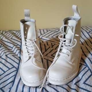 Mono White Doc Martens Size 7
