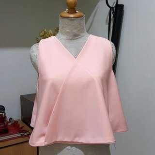 baju baru pink tangan buntung
