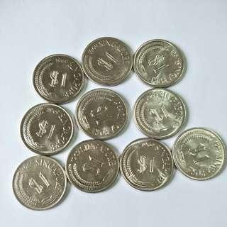 1969 S'pore $1 (10pcs)