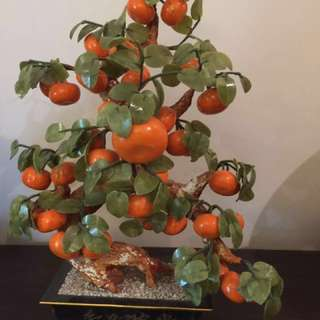 Good Luck Porcelain Orange Plant
