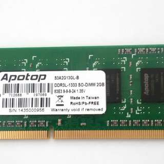 Apotop DDR3L-1333 SO-DIMM 2GB