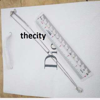 AUTHENTIC DIOR LOGO NECKLACE