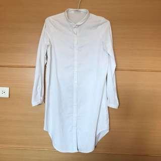 MEIER.Q 白色長版襯衫