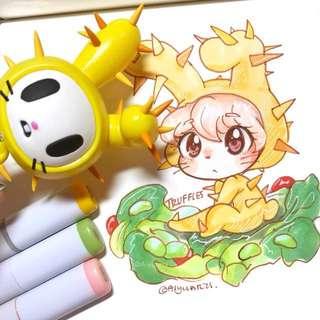 Character Commissions *digital and traditional (Tokidoki, Pokemon, anime, Sanrio, etc)