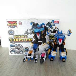 T-buster 迷你特工 五位合體機器人
