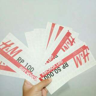 Voucher H&M ready stock