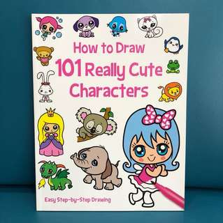 How to draw 101 really cute characters book