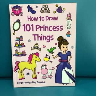 Children's Book - How to draw 101 Princess things