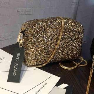 Sling bag tas pesta selempang (gold only