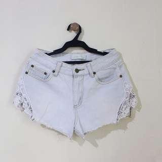 High Waist Light Washed Denim Shorts (Brand: SM True Love)