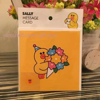 BNIP Sally Message Card Greeting Card Line Friends Line Characters