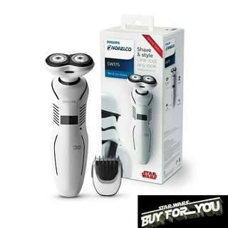 $688 代購 (無現貨) Philips Norelco Special Edition Star Wars Storm Trooper Wet & Dry Electric Shaver & Styler, SW175/81 白兵 stormtrooper 飛利蒲 白武士 星球大戰 特別版 剃鬚刨