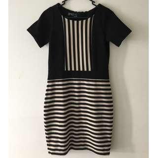 BCBL Black Stripe Detail Dress