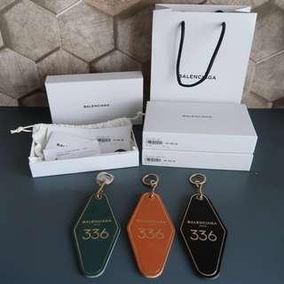 Balenciaga hotel key tag