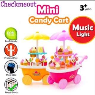 🌈READY STOCK🌈Mini 39 Pcs Ice Cream Candy Cart Playset