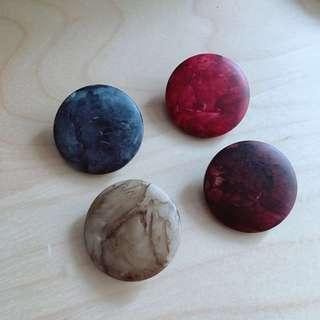 Vintage 造型釦 石紋扣子 星球 手工藝材料
