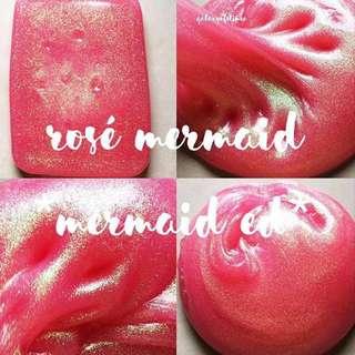 rosé mermaid slime