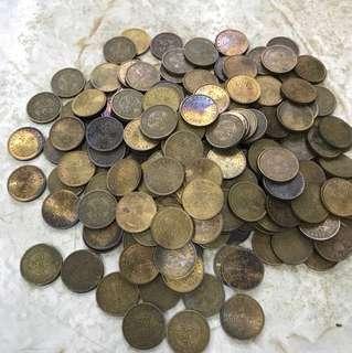 香港伍仙錢幣一百九十個