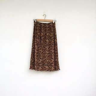 二手 豹紋 彈性 長裙