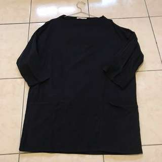Zara 燈芯絨 藍色 立領上衣 長版