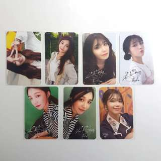 Official Eunji Photocards