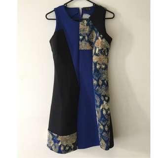 Zalora Blue Black Print Dress