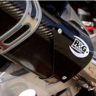 R&G Tri Oval Exhaust Guard / Protector EP0007BK