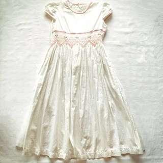 Anne Juleth Cap Sleeve White Dress