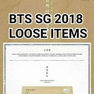 BTS SG 2018 LOOSE ITEMS